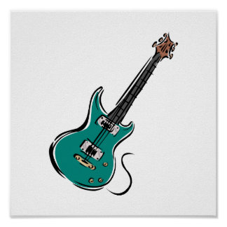 teal electric guitar music graphic.png poster