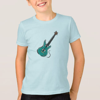 teal electric guitar music graphic.png T-Shirt