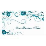 teal elegance business cards