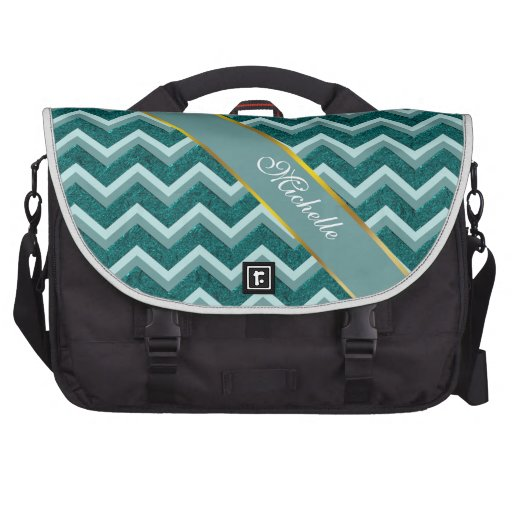 Teal Embossed Foil Bags For Laptop