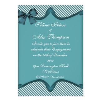 Teal  Engagement Invitation
