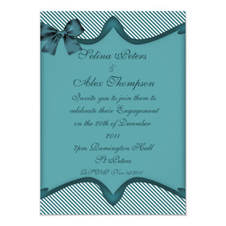 Teal  Engagement Invitation 2