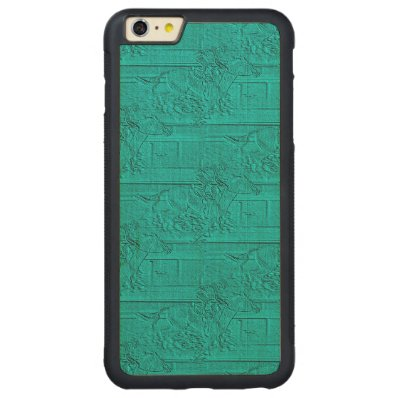 Teal Etched Look Horse Racing Silhouette Carved® Maple iPhone 6 Plus Bumper Case