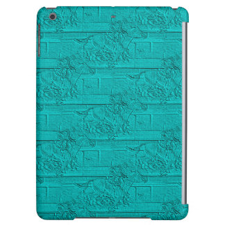 Teal Etched Look Horse Racing Silhouette Cover For iPad Air