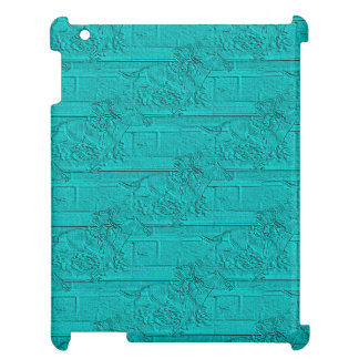 Teal Etched Look Horse Racing Silhouette iPad Cases
