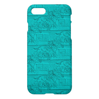 Teal Etched Look Horse Racing Silhouette iPhone 8/7 Case