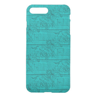 Teal Etched Look Horse Racing Silhouette iPhone 8 Plus/7 Plus Case