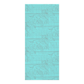 Teal Etched Look Horse Racing Silhouette Rack Card