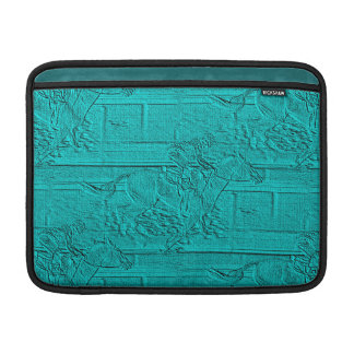 Teal Etched Look Horse Racing Silhouette Sleeve For MacBook Air