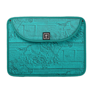 Teal Etched Look Horse Racing Silhouette Sleeve For MacBooks