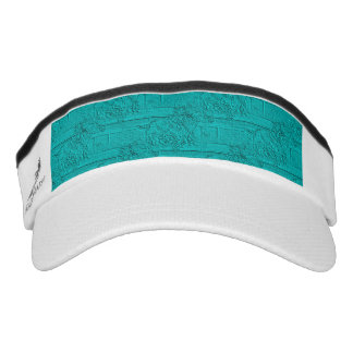 Teal Etched Look Horse Racing Silhouette Visor