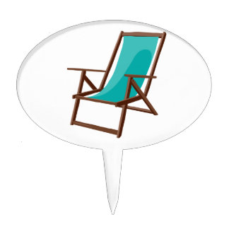 teal fabric beach chair.png cake topper