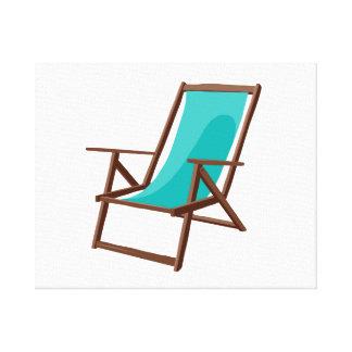 teal fabric beach chair.png canvas print