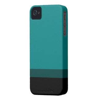 Teal Fade To Black Case iPhone 4 Case-Mate Cases