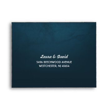 Teal Fade & White Moon & Stars Rsvp Return Envelopes by juliea2010 at Zazzle