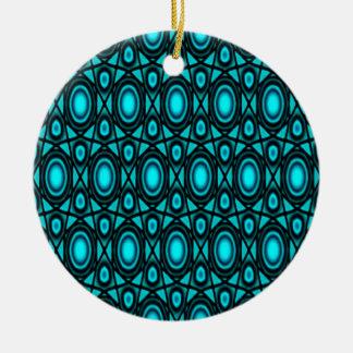Teal Fairy Star Ceramic Ornament
