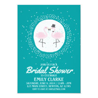 Teal Flamingo Bride & Groom Invitation (any event)