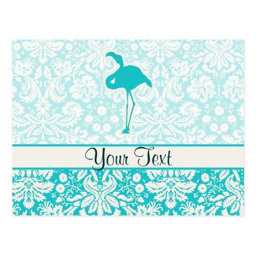 Teal Flamingo Postcard