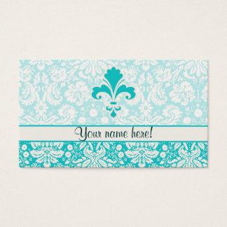 Teal Fleur de lis Business Card