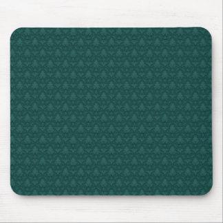 Teal Fleur-de-lis Pattern Mouse Pad