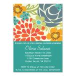 Teal Floral Garden Bridal Shower Invitation