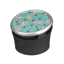 Teal Floral Panda Dumpling Pattern Bluetooth Speaker
