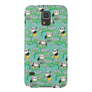 Teal Floral Panda Pattern Galaxy S5 Case