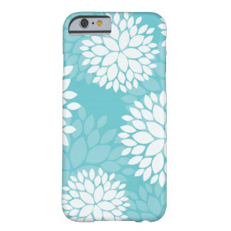 Teal Floral Pattern Cases Barely There iPhone 6 Case