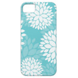 Teal Floral Pattern Cases iPhone 5 Covers