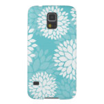 Teal Floral Pattern Galaxy S5 Cases