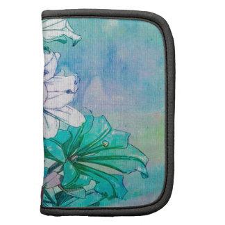Teal Floral Pattern Folio Planner