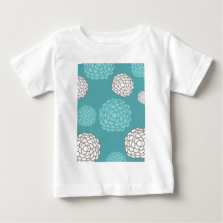 Teal Floral Print Baby T-Shirt