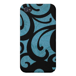 Teal Floral Swirls IPhone 4 Speck Case iPhone 4 Case