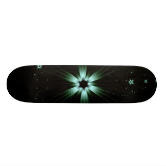 Teal Flower Burst Skateboard