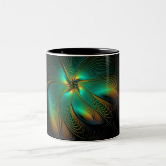Teal Flower Mug