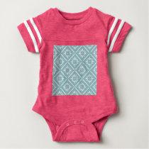 teal,flower,pattern,floral,trendy,modern,chic,beau baby bodysuit