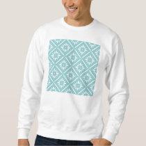 teal,flower,pattern,floral,trendy,modern,chic,beau sweatshirt
