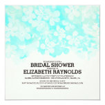 Teal Flowers Bridal Shower Invitations Announcement