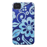 Teal Flowers iPhone 4/4s Case