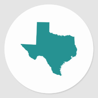 Teal for Texas Classic Round Sticker