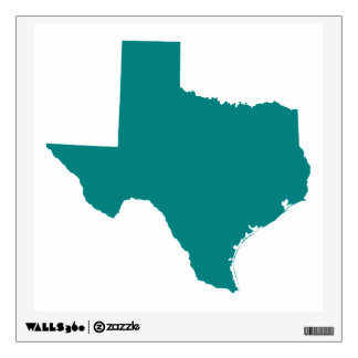 Teal for Texas Wall Decal