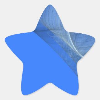 Teal Fractal Background Star Sticker