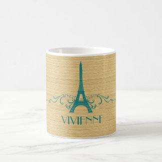 Teal French Flourish Mug