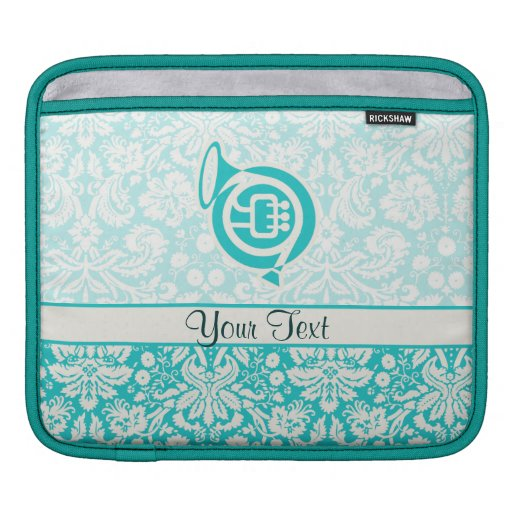 Teal French Horn Sleeve For iPads