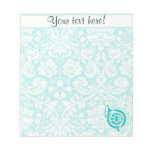 Teal French Horn Memo Notepads