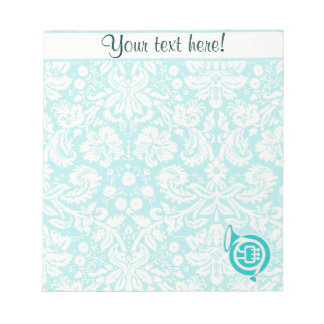 Teal French Horn Notepad