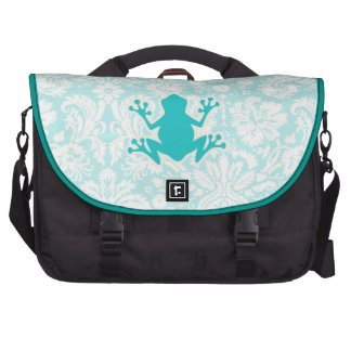 Teal Frog Laptop Messenger Bag