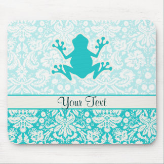 Teal Frog Mouse Pad