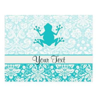 Teal Frog Postcard