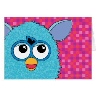 Teal Furby Greeting Card